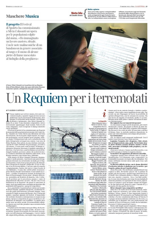 Requiem intervista Corriere della Sera