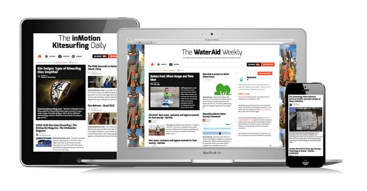 Todos los periódicos Paper.li se adaptan muy bien a PC, tablets y smartphones.