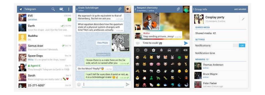 Algunas capturas de Telegram