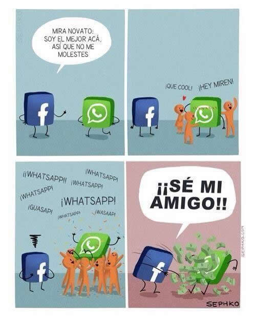 Humor gráfico - Facebook Vs Whatsapp