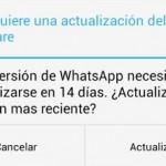 Nueva actualización de WhatsApp dentro de 14 días
