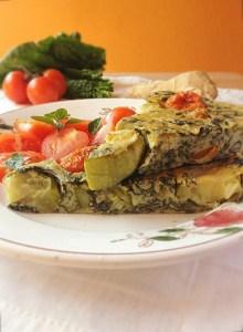 frittata farina di ceci e verdure