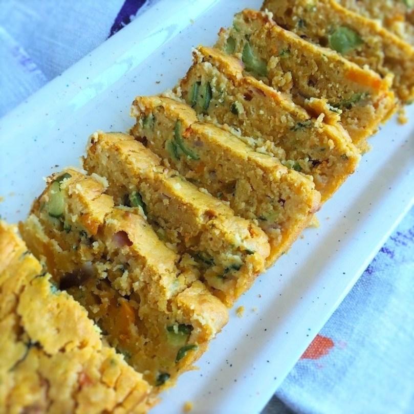 Plumcake salato con verdure e stracchino.