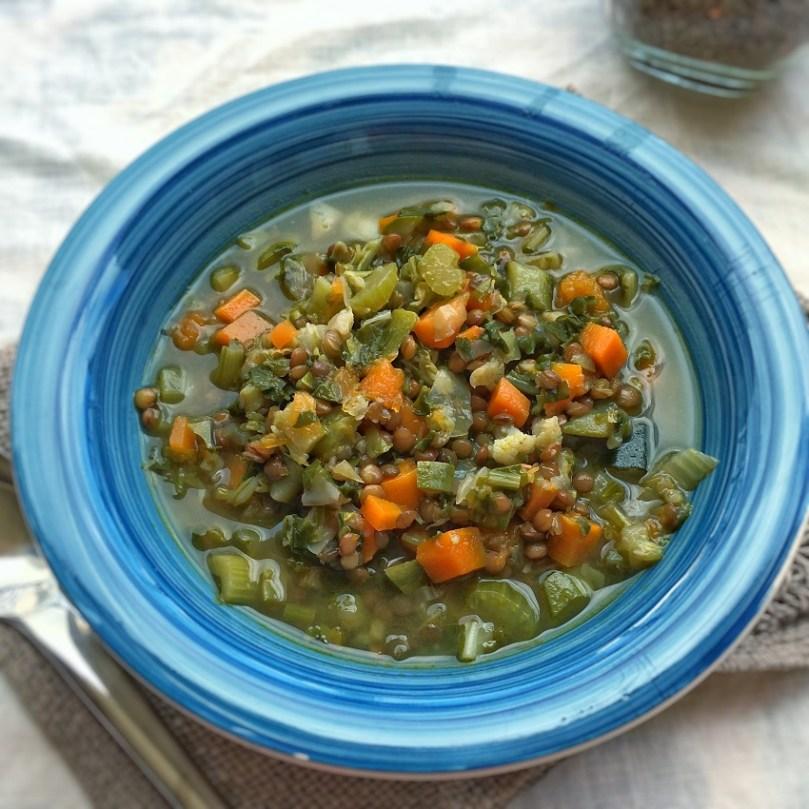 Zuppa di verdure e lenticchie: Le verdure di Gennaio.