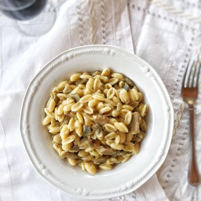 malloreddus con carciofi e pecorino, ricetta, sardegna