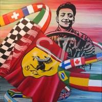 Enzo Ferrari dipinto SIlvia tassoni