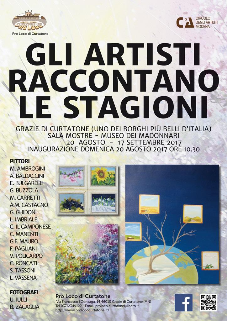 Locandina Mostra Gli Artisti Raccontano le Stagioni