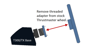 Remove threaded adapter from stock Thrustmaster wheel