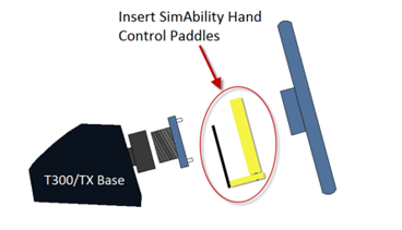 Insert Simability hand control paddles