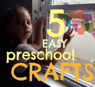 5 easy crafts for preschoolers (and their color-starved moms)