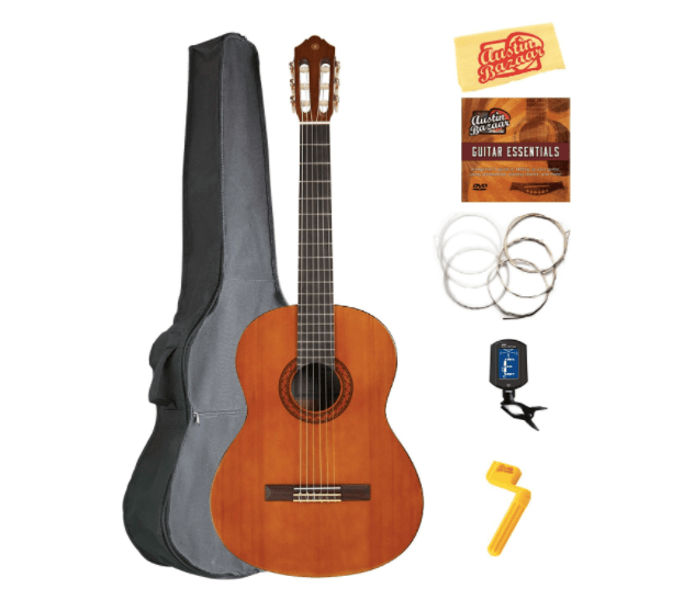 Acoustic Yamaha Guitar With Case And Accessories