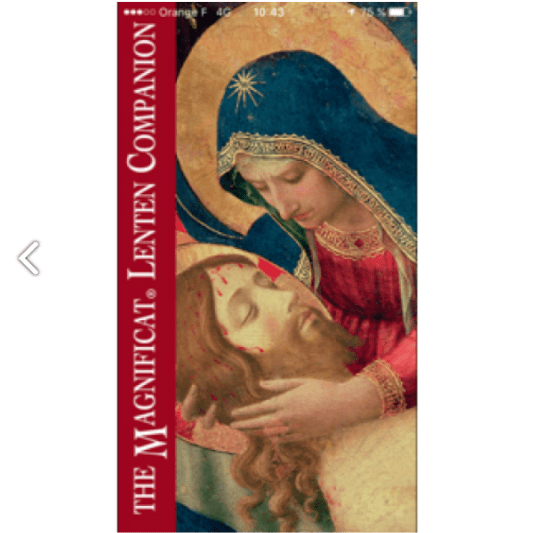 Giveaway: Two coupon codes for Magnificat Lenten app