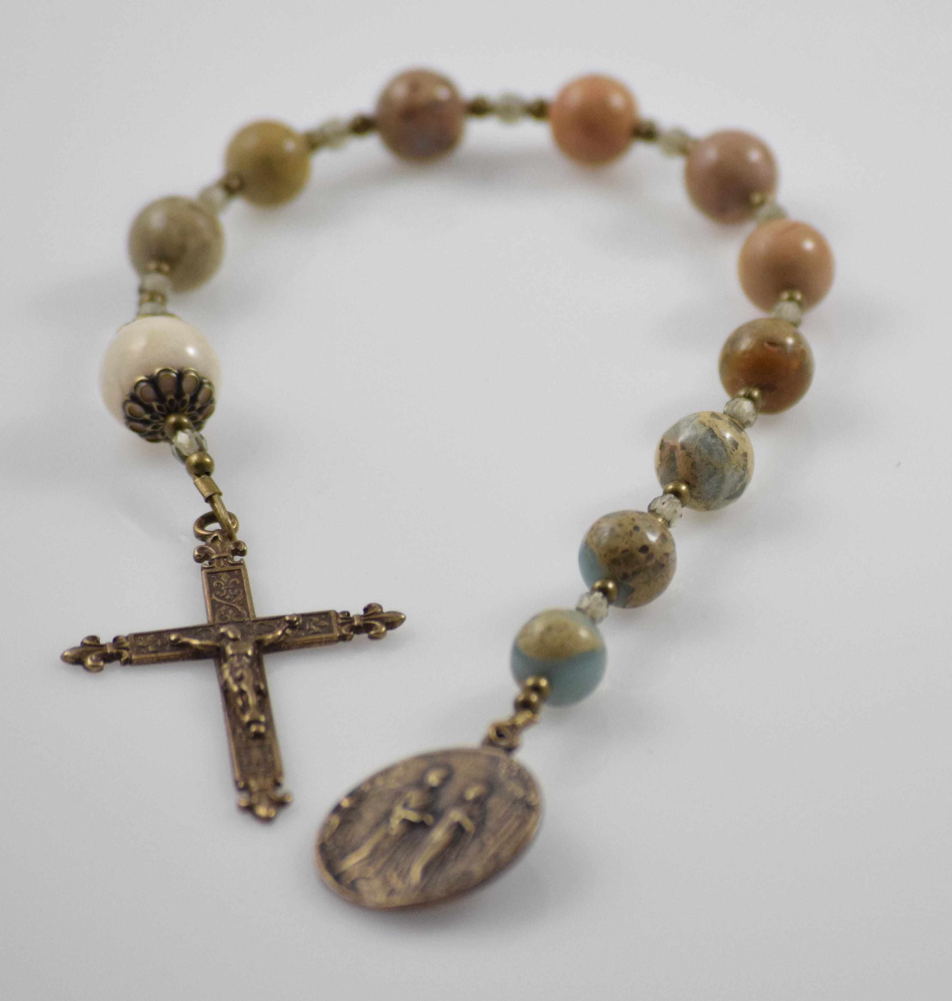 Inspire Nation Rosary for Car Decade Cross Catholic Never Drive Faster Than Your Guardian Angel