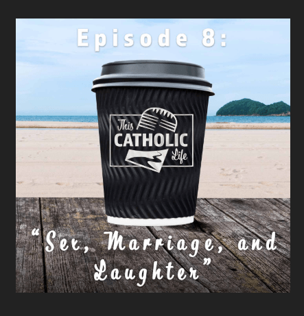 """Damien and I are on """"This Catholic Life"""" with Peter Holmes and Renée Köhler-Ryan"""