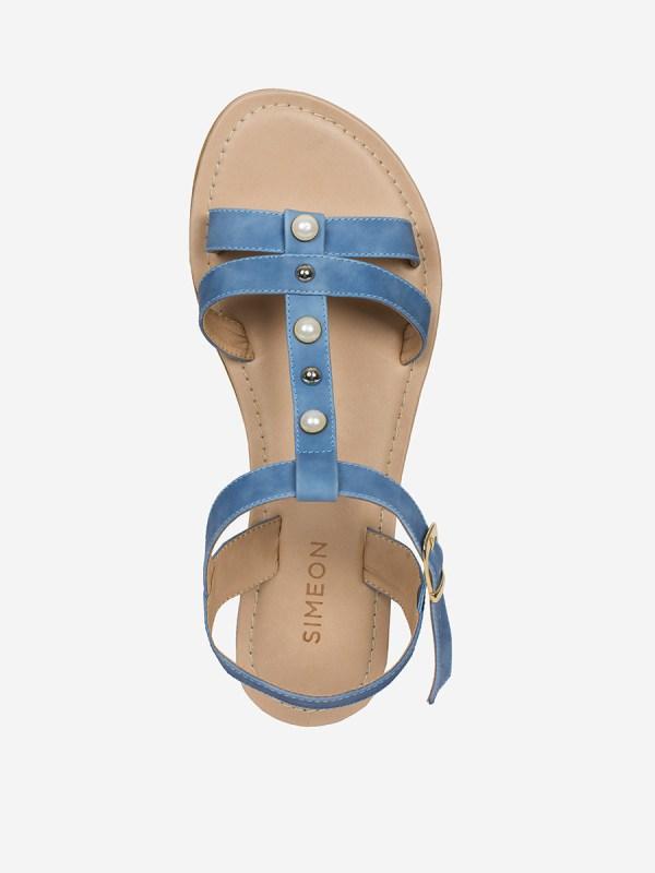 Sulia03, Todos los zapatos, Sandalias Planas, AZU_S