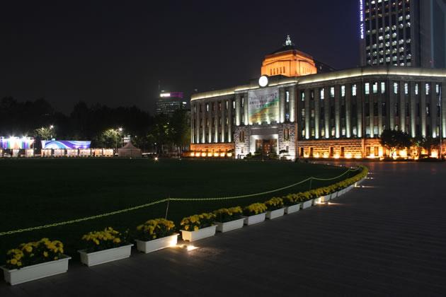 Seoul City Hall Plaza Simes S P A Luce Per L Architettura