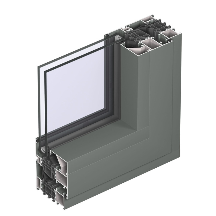 Profil ferestre aluminiu Reynaers Masterline 8 - interior