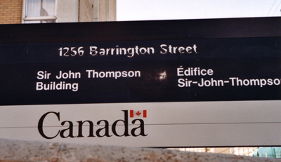 guerillatypefacing - readjusted font on canadian government sign