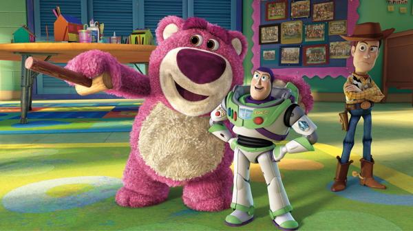 Lotso, Woody und Buzz