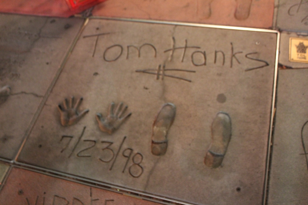 Huellas Teatro Chino Los Angeles - Tom Hanks