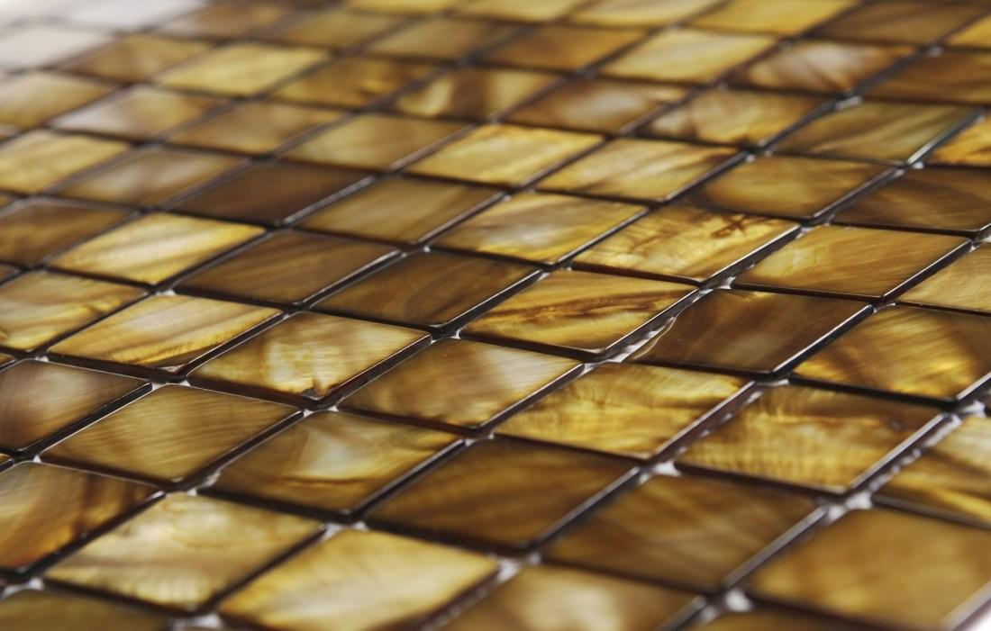 Siminetti's Bronze 25mm mosaic tiles