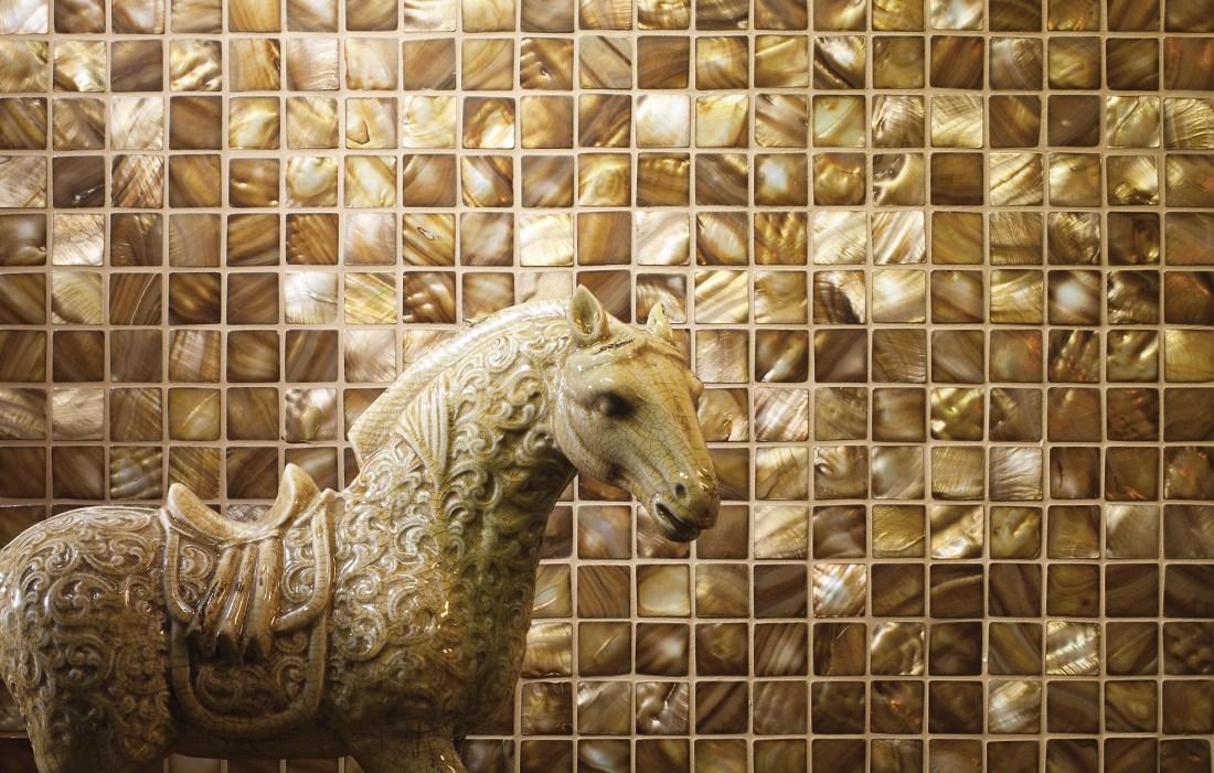 Bronze mosaic tiles 25mm