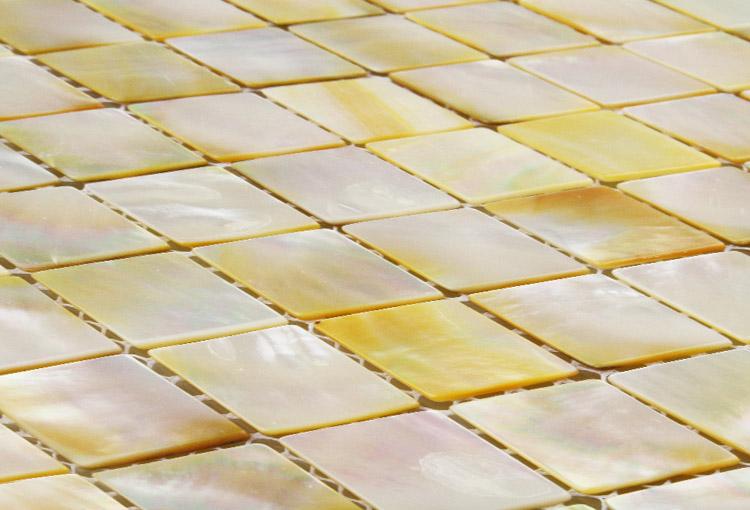 Golden Promise Yellow Mosaic Tiles