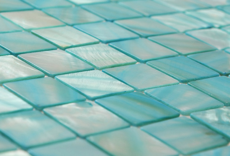Oceans Calm Blue Mosaic Tiles