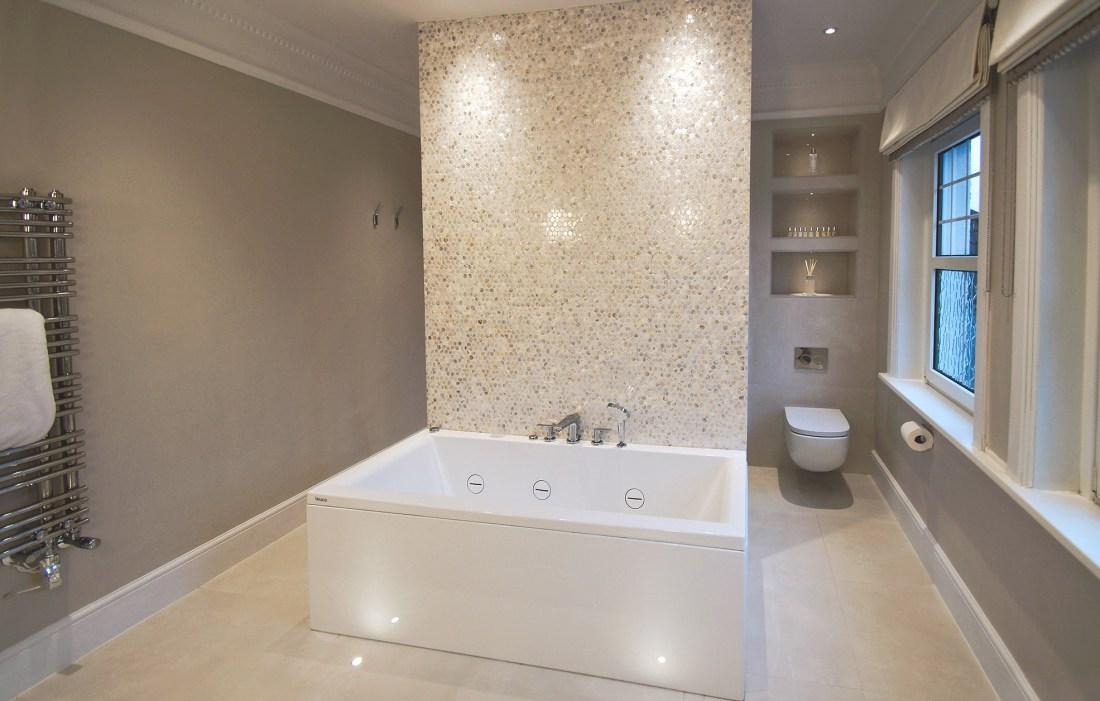 Natural Hexagons Bathroom