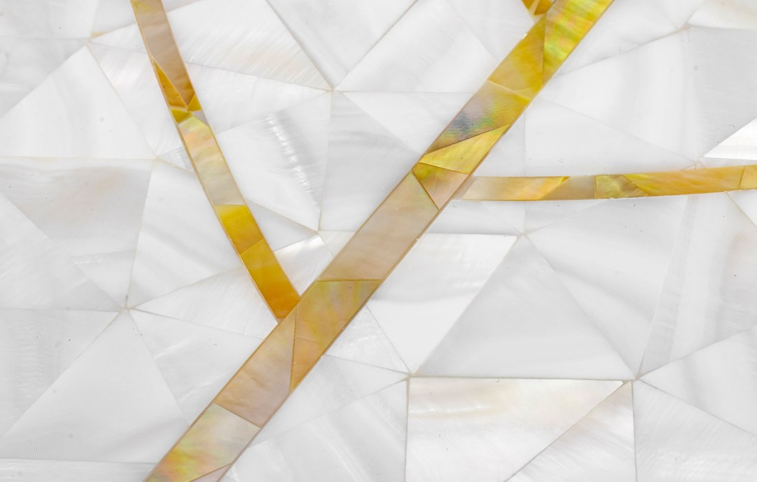 Natures Herringbone Golden Promise Detail