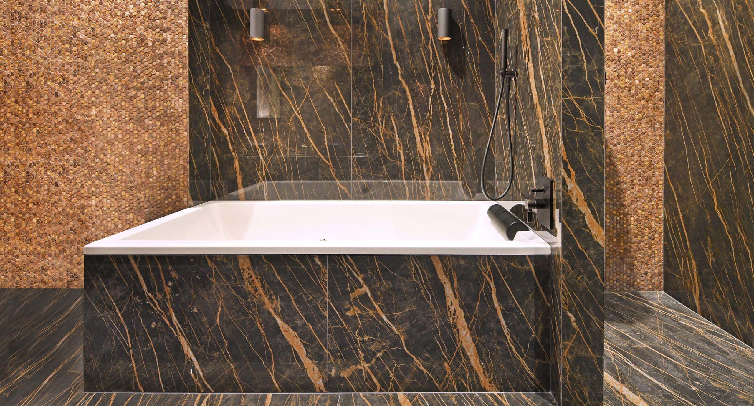 Luxury Gentle Earth Mosaic Tiles in bathroom