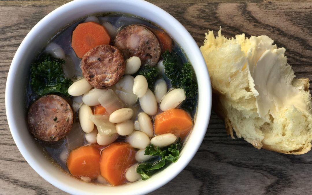 White Bean Soup With Kale & Smoked Sausage
