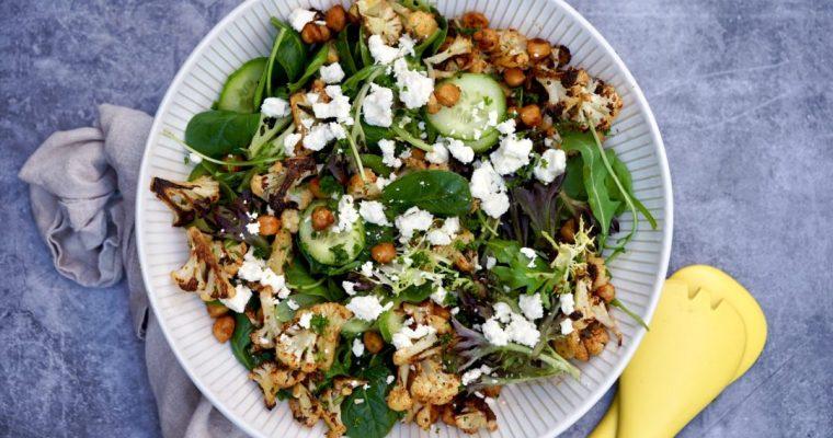 Roasted Cauliflower And Chickpea Salad With Honey Mustard Vinaigrette