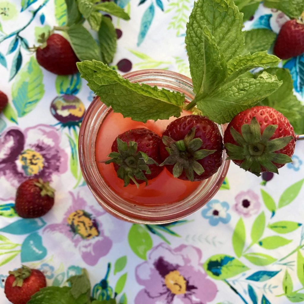 strawberry-balsalmic tequila sour