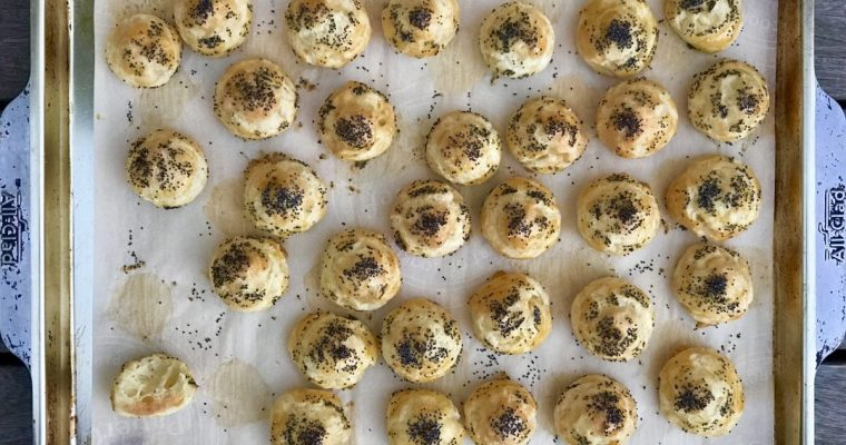 Savory Poppy Seed Gougéres Just like I Had At Garrisons In DC