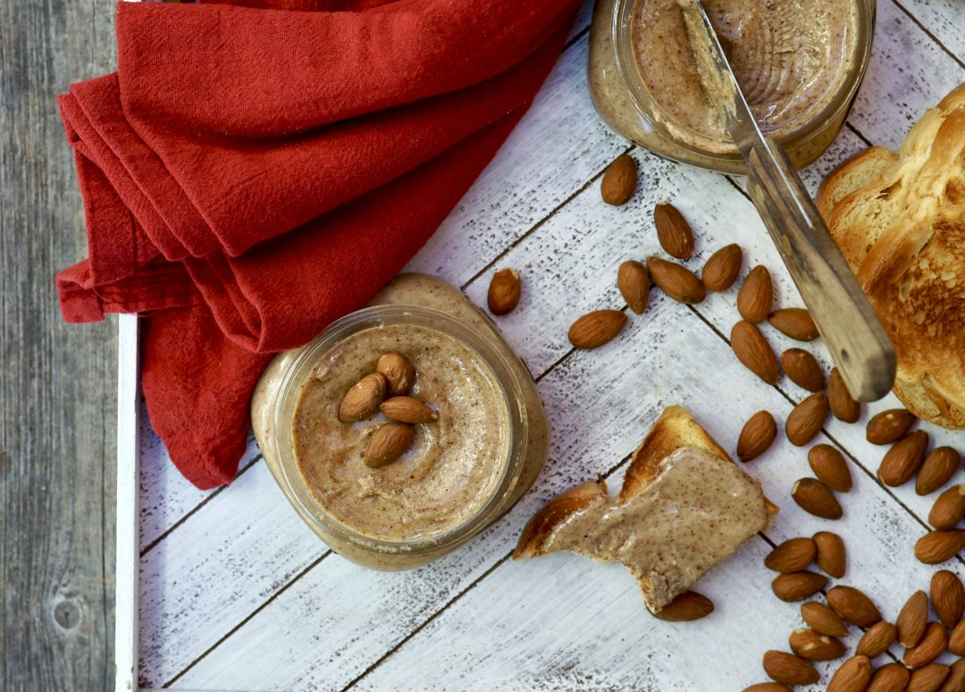 Homemade Almond Butter With Tahini & Honey