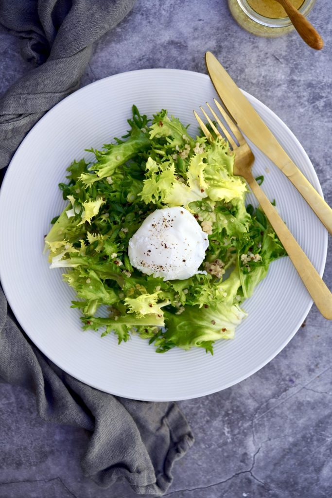 frisée and poached egg salad