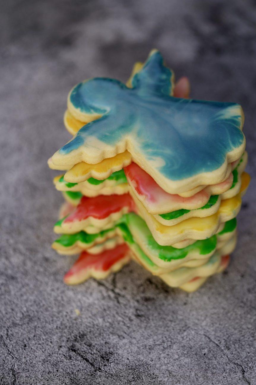 marbled Christmas cookies