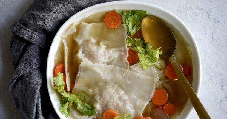 Chicken Kreplach Soup