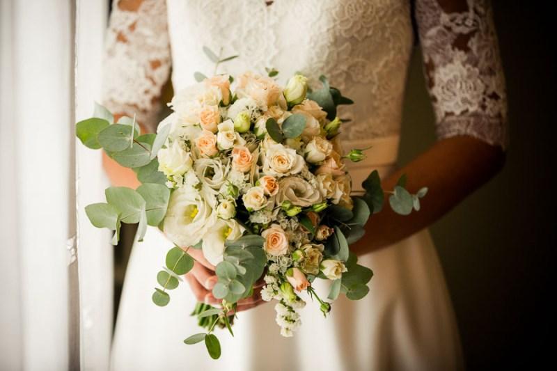 bouquet romantico rose pesca cipria wild simmi