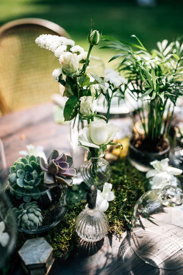 tavolo centrotavola botanico boho chic