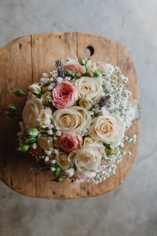 bouquet romantico rose lavanda, shabby chic simmi