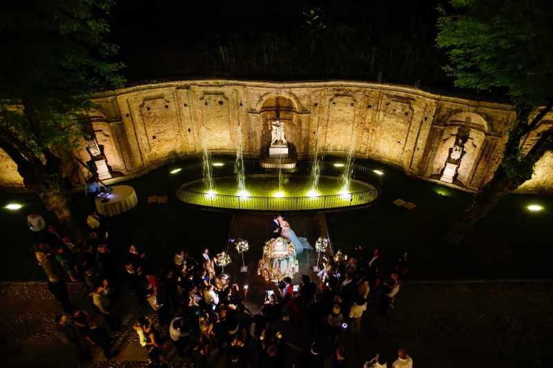 Wedding Cake Fontana di Villa Bria - PH N. Milani: