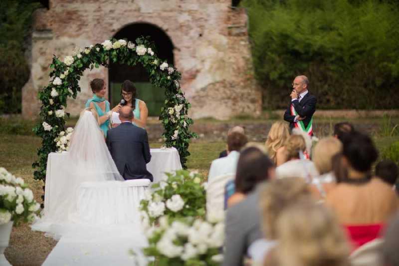 Castello di S. Giorgio - Rito Civile all'aperto - PH Joyphotographers: