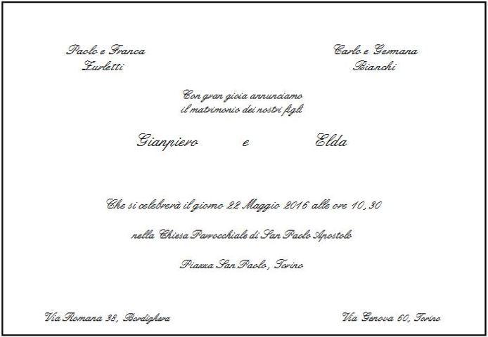 Inviti per cerimonia e ricevimento nella ... - Matrimonio.com