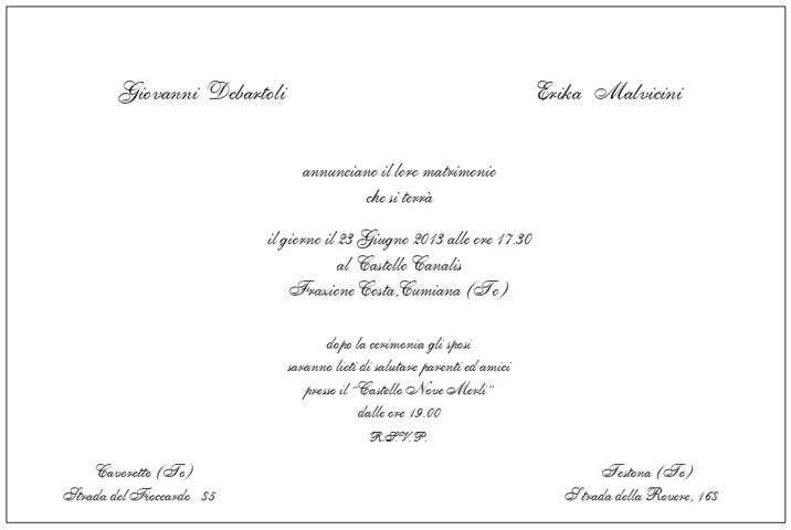 Le Partecipazioni il biglietto da visita del matrimonio ...