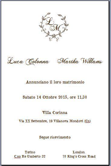 Frasi Matrimonio Rito Civile.Partecipazione