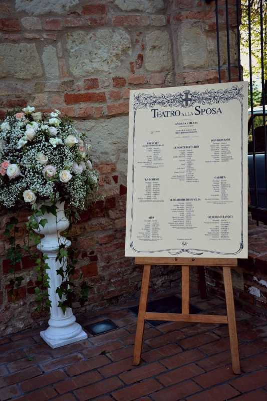 tableau de mariage originali per matrimonio a torino