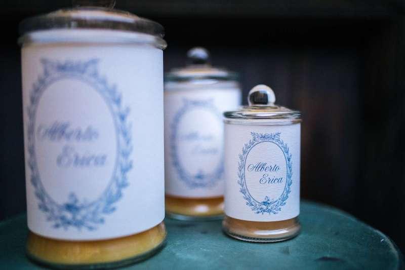 bomboniere candele shabby chic per matrimonio a torino