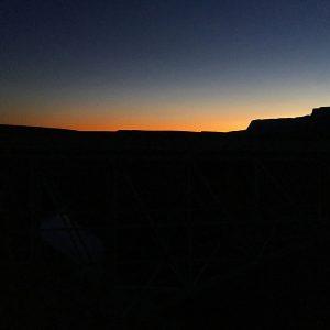 Twilight descends upon the Vermillion Cliffs of northern Arizona.